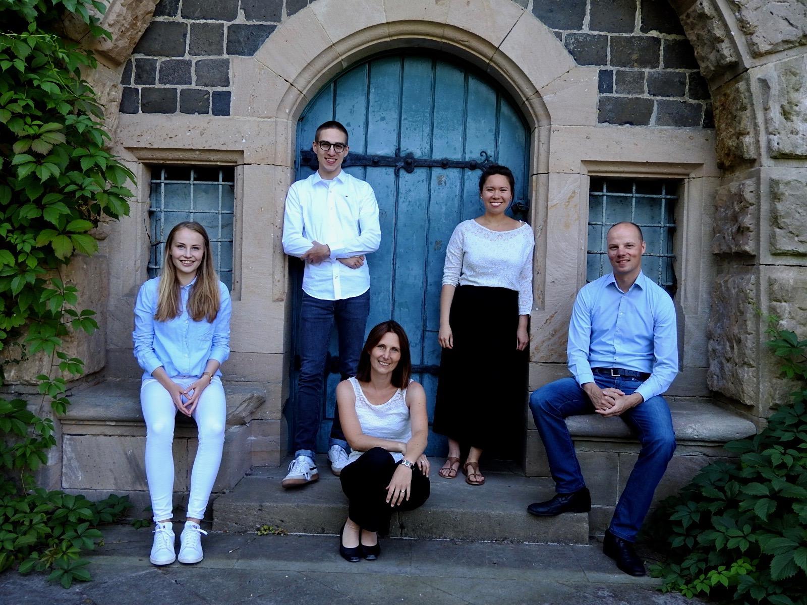 Das sind wir – von links nach rechts: Sarah Hennings, Leon Kümmel, Susanne Trobitius, Kim Arnold und Andreas Trobitius
